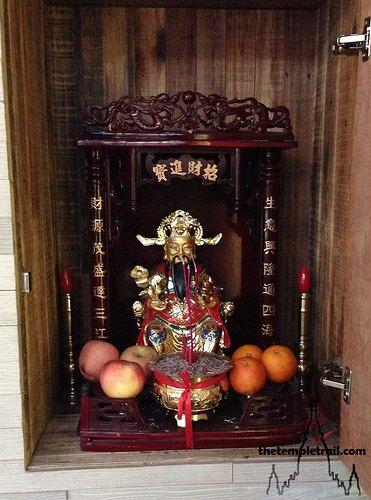 Money God Shrine Buddhist Shrine God Art