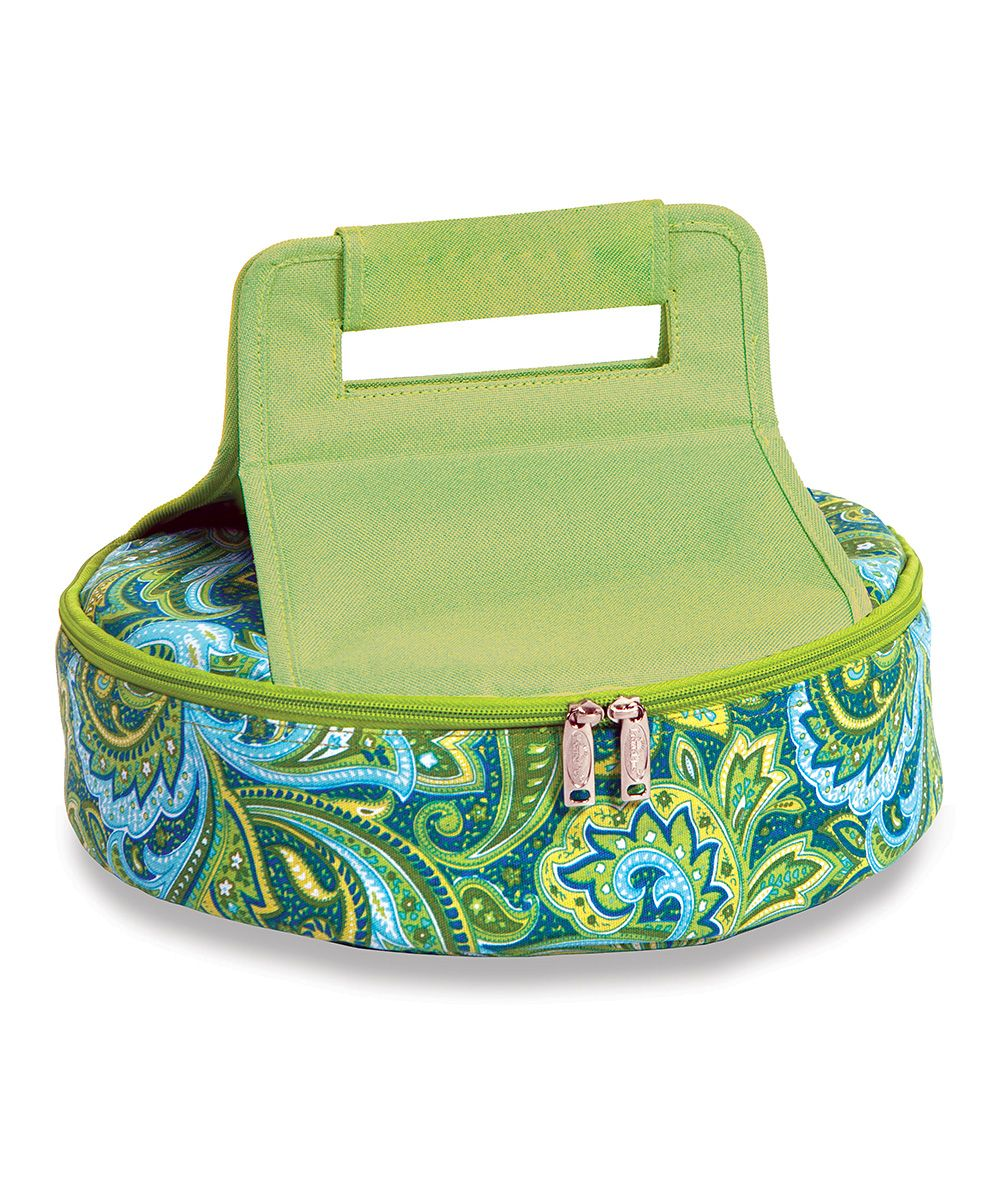 Green Paisley Insulated Cake Carrier zulily Cake