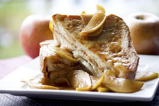 Peanut Butter Stuffed Apple French Toast