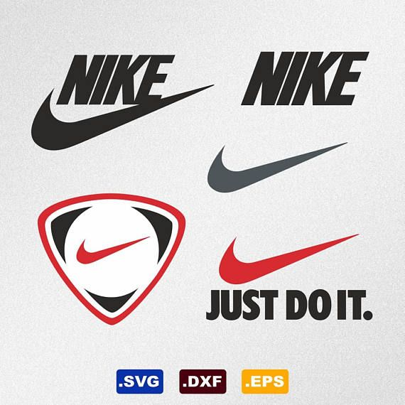 Nike Logo Svg Dxf Eps Vector Files for Silhouette Cricut