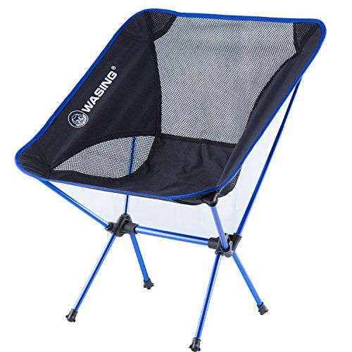 WASING Camping Chairs Outdoor Folding Chair With Carrying Bag Picnicfishing Folding  Sports Chairs Dark Bule *
