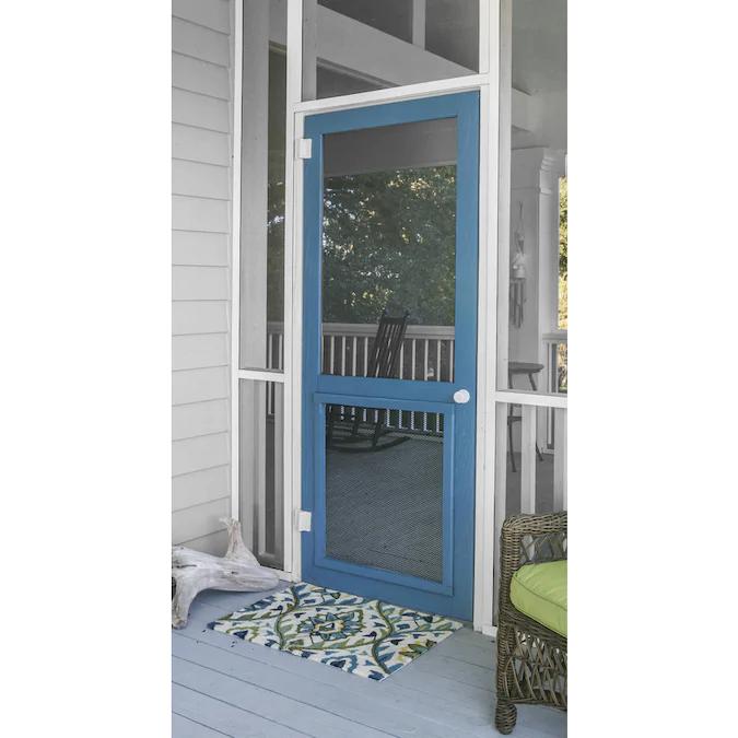 Screen Tight Natural Wood Frame Hinged Decorative Screen Door Lowes Com In 2020 Decorative Screen Doors Screen Door Custom Screen Doors