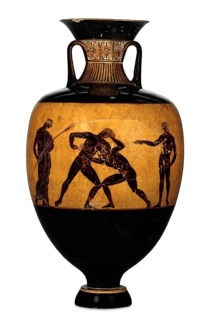 Pottery panathenaic amphora athena between two doric columns pottery panathenaic amphora athena between two doric columns topped by figures of triptolemus in reviewsmspy