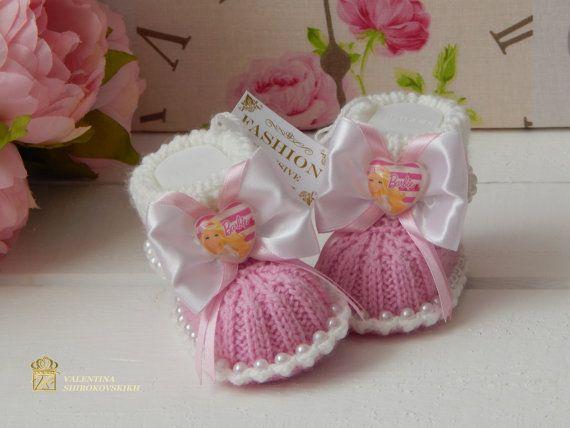 Cute Baby booties. Rosa Booties.Baby Baby doccia di Exclusive72