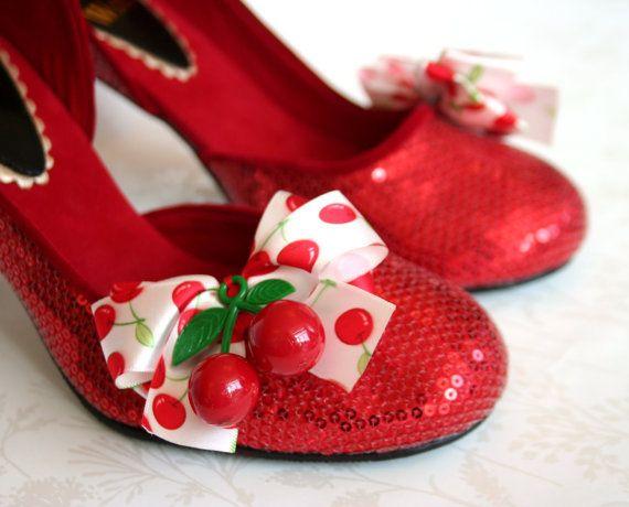 Cherry Bombshell Burlesque Cherry Embellished Ruby