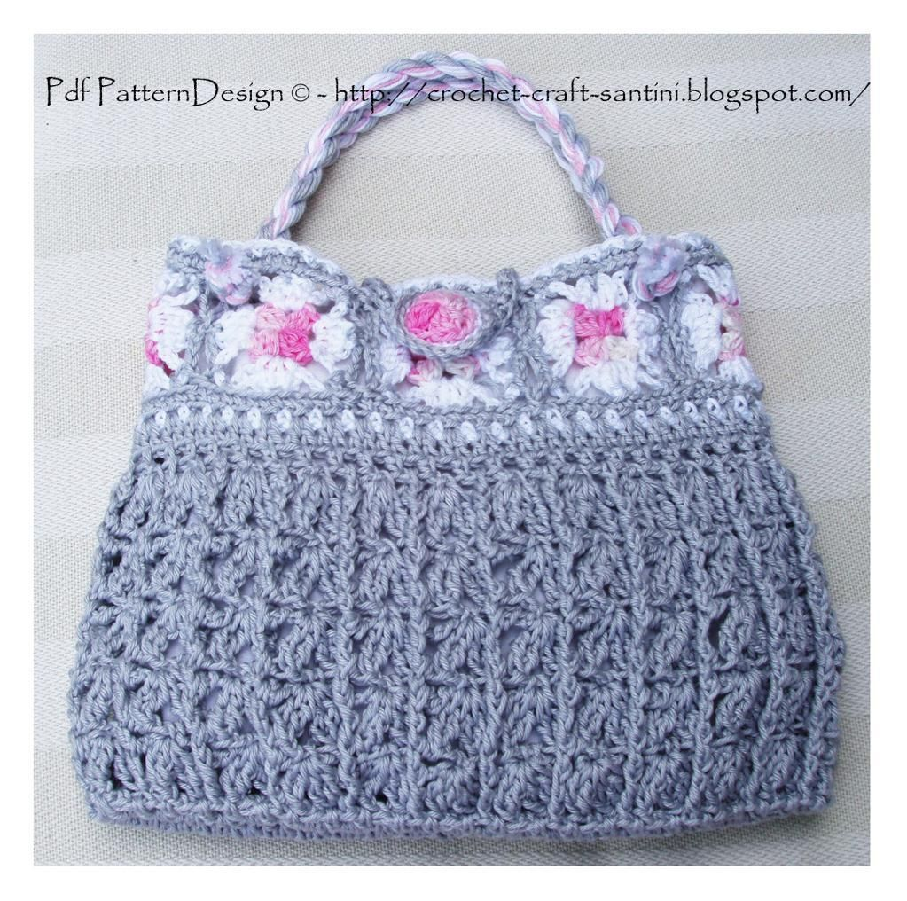 Grey granny square bag granny squares squares and crochet grey granny square bag httpcraftsypattern bankloansurffo Image collections