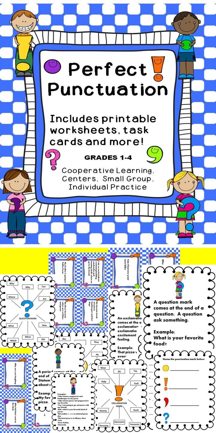 punctuation pre k 8 hot off the presses latest tpt releases punctuation activities. Black Bedroom Furniture Sets. Home Design Ideas