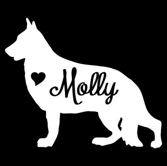 Custom Vinyl Graphic Bumper Sticker Dog Personalized German Shepherd Decal