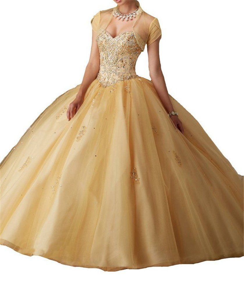 Avda womenus crystal beading sweet prom party ball gown