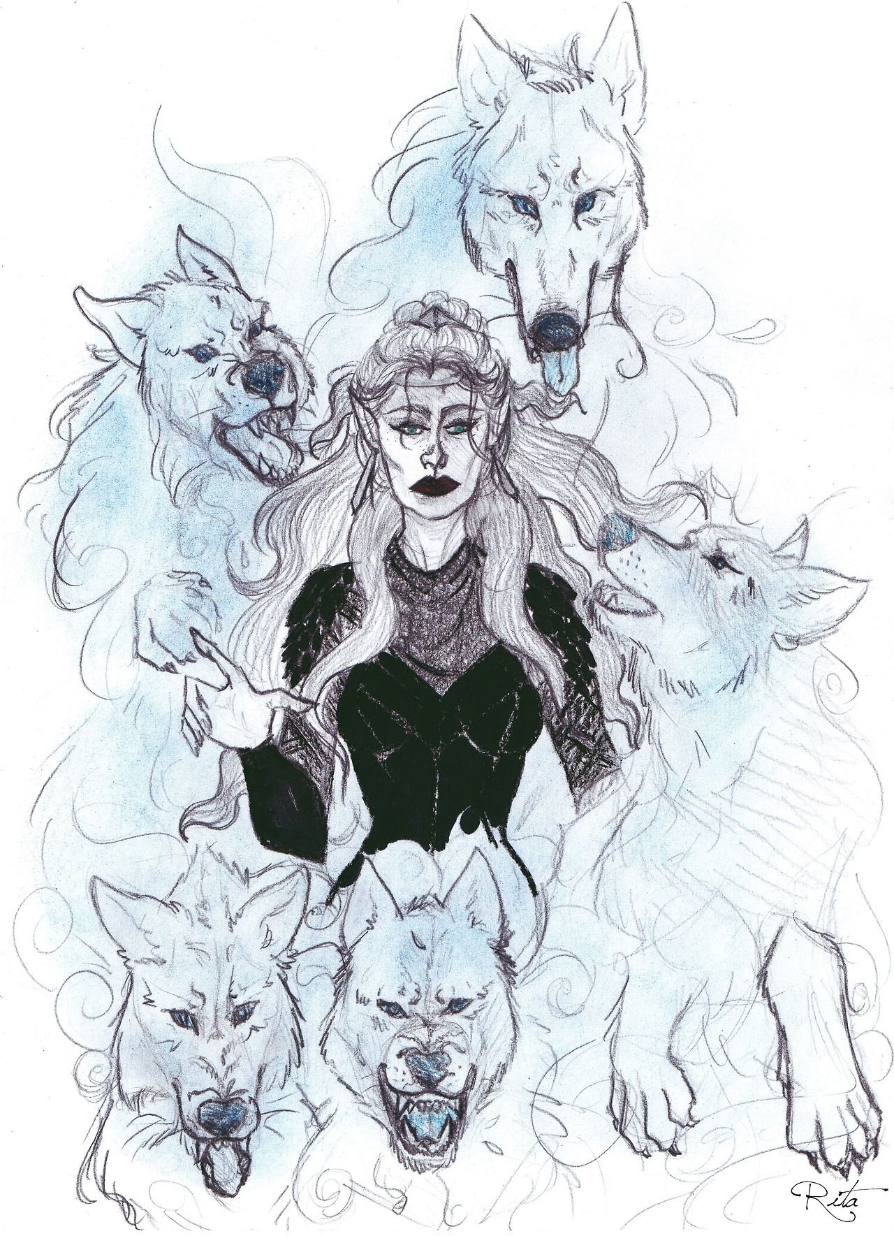 Feyre And Her Water Wolves Army A Court Of Mist And Fury A