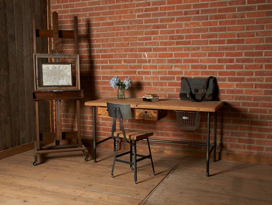 innenarchitektur des luxusbüros stock industrial reclaimed wood desk with pipes legs luxury offices beautifully reclaimed wooden desks pipedecorcom
