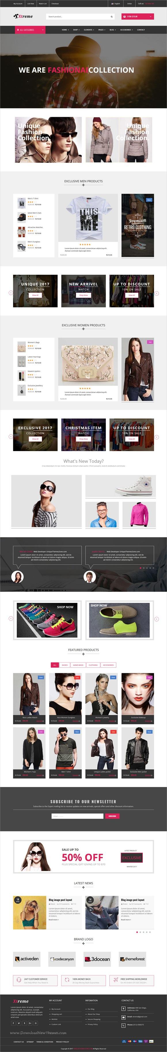 Xtreme - Fashion eCommerce HTML5 Template   eCommerce