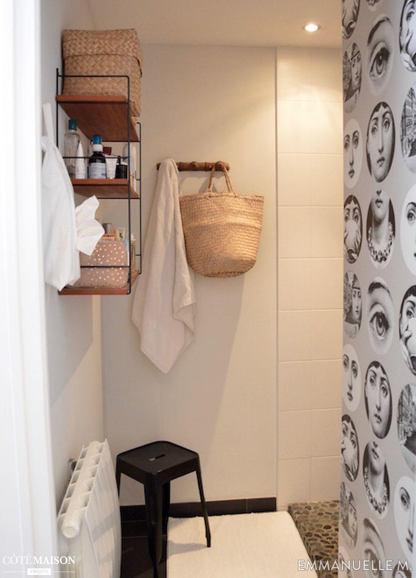 Petite Salle De Bains Relookée Emmanuelle M Côté Maison - Cote maison salle de bain