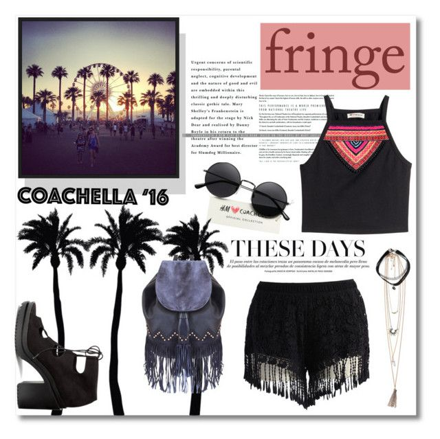 Festival Trend: Fringe! by maki007 on Polyvore featuring polyvore fashion style H&M Chicwish Liquorish Dot & Bo Alba Botanica clothing black fringe coachella polyvorecontest