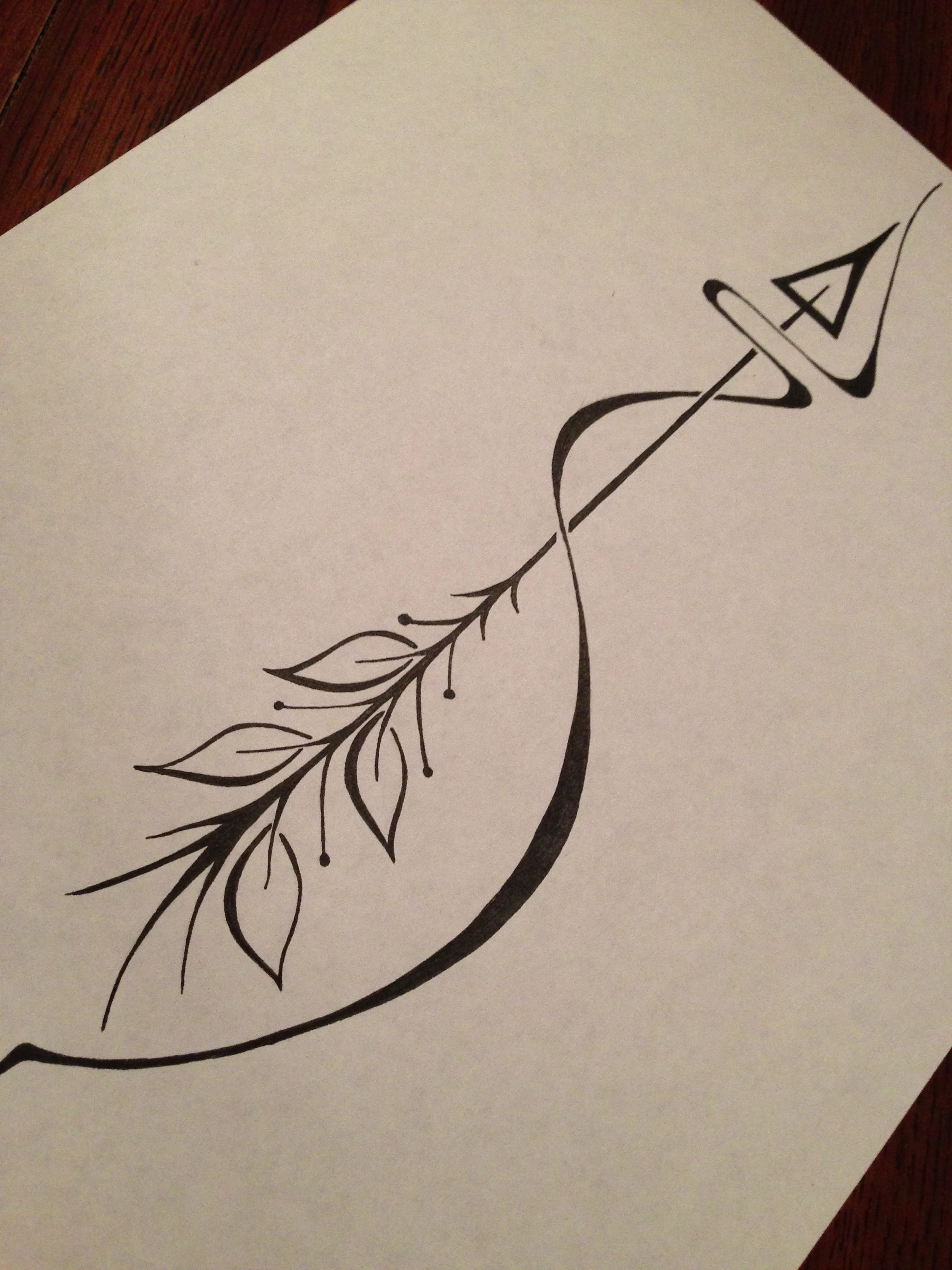 Arrow tattoo meaning an arrow can only be shot forward by