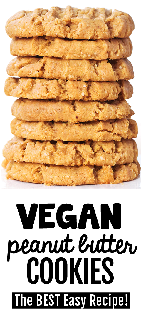 Vegan Peanut Butter Cookies - They MELT in your mouth!
