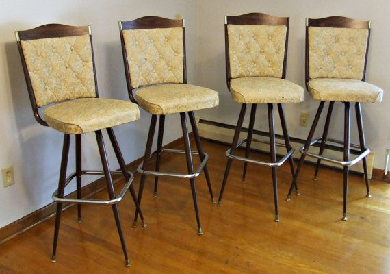 Mid Century Vintage Chromcraft Bar Stools By Dirtysantiques 110 00