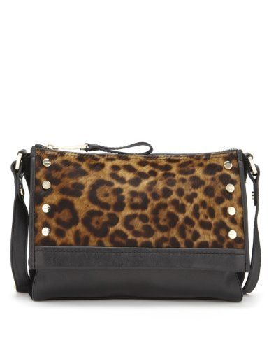 9182f6464bf Leather Leopard Print Cross Body Bag in 2019 | Accessories ...
