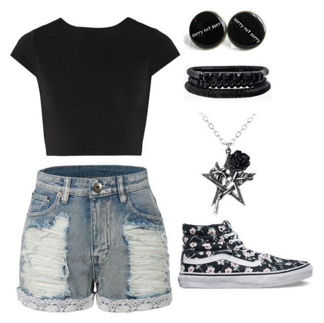 """Good Day"" by sleepingwithsirens15 ❤ liked on Polyvore featuring LE3NO, Vans, Alice + Olivia and Spring Street"