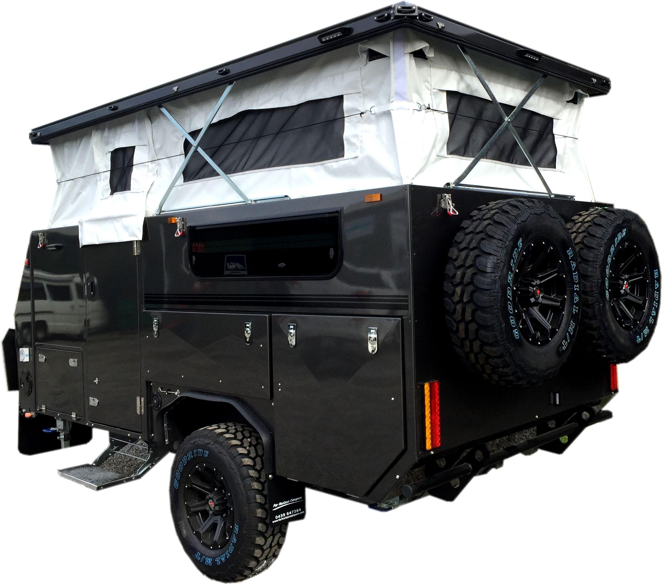 Tuff track escape Hybrid camper trailers, Camper trailers