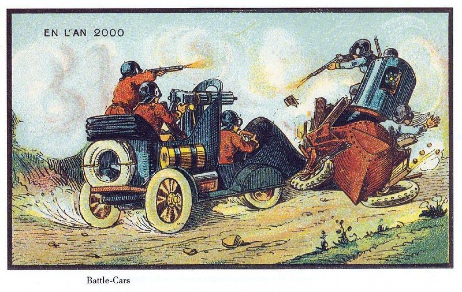 What people in 1900 thought the year 2000 would look like - The Washington Post - Carnage on the roads... we got this!