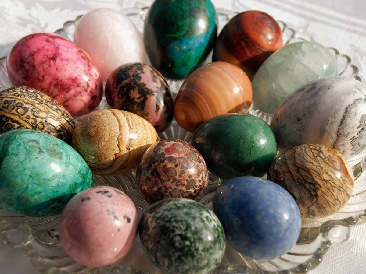 Eggs Of Stone Rock And Roll Egg Art Crystal Egg Glass Platters