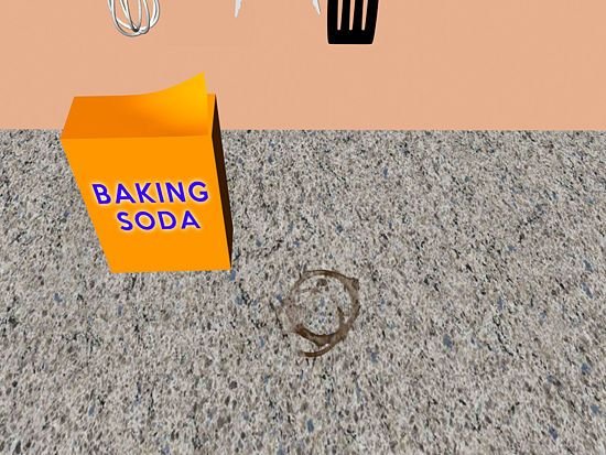 how to clean countertops with baking soda