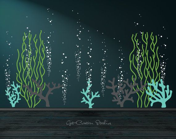 Underwater Decal Bubble Wall Decal Ocean Wall Decal Aquarium