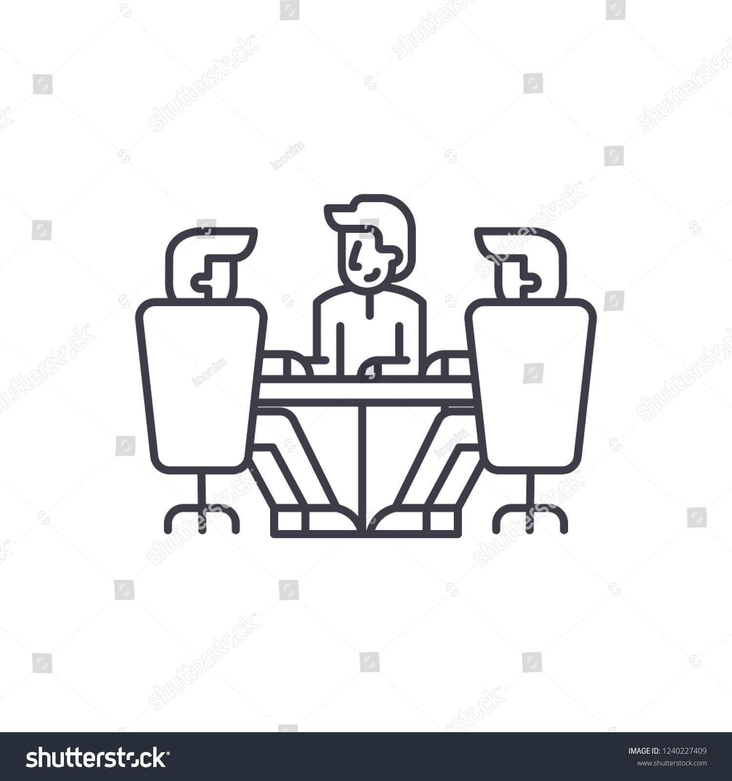 Board Of Directors Meeting Line Icon Concept Board Of Directors Meeting Vector Linear Illustration Symbol Sign Spon Line Icon Children Illustration Concept
