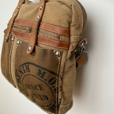 Photo of Messenger Bag Vintage Shoulder Bag Canvas Leather Trendy | eBay