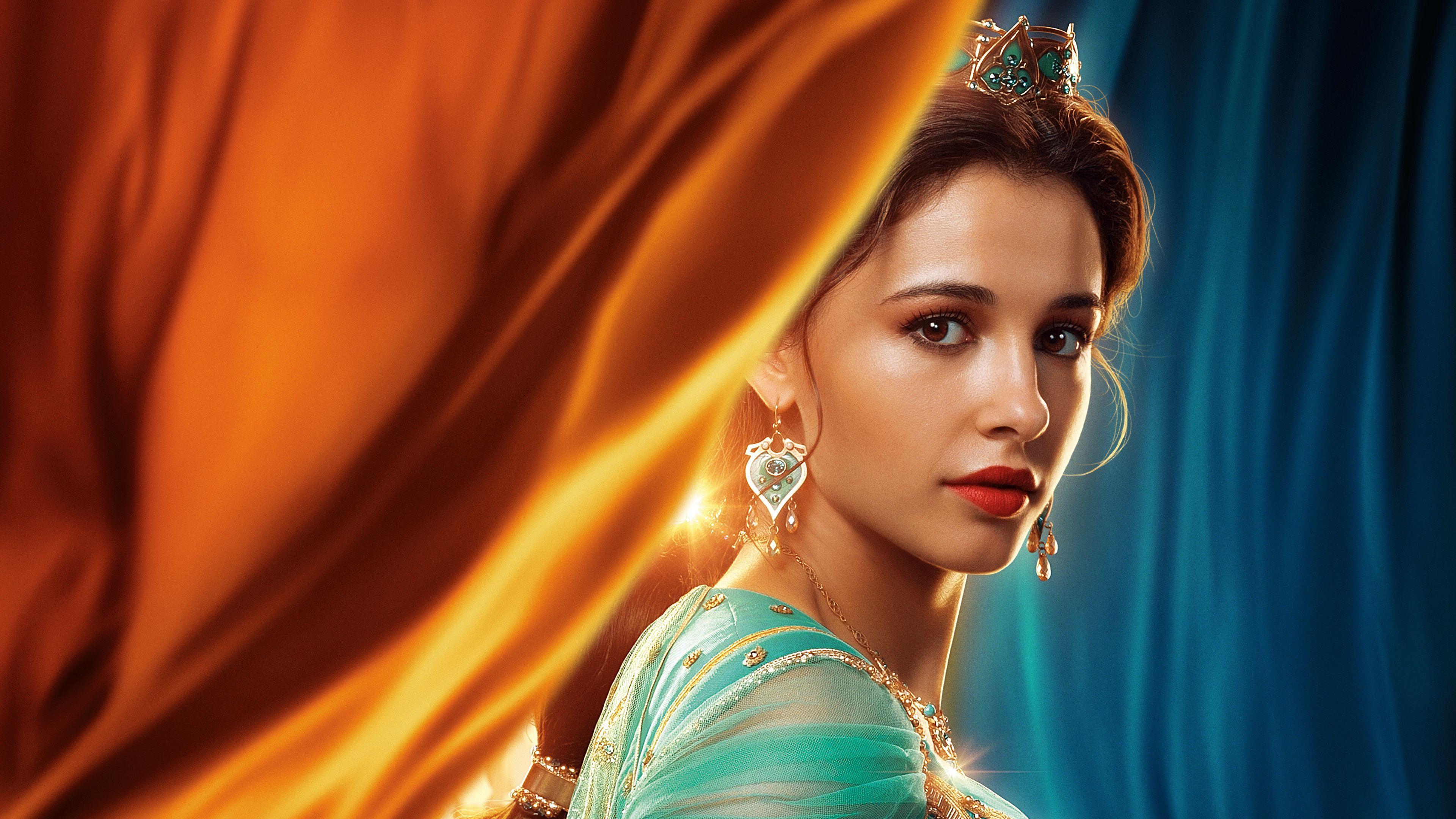 Wallpaper 4k Princess Jasmine In Aladdin 2019 4k 2019 Movies