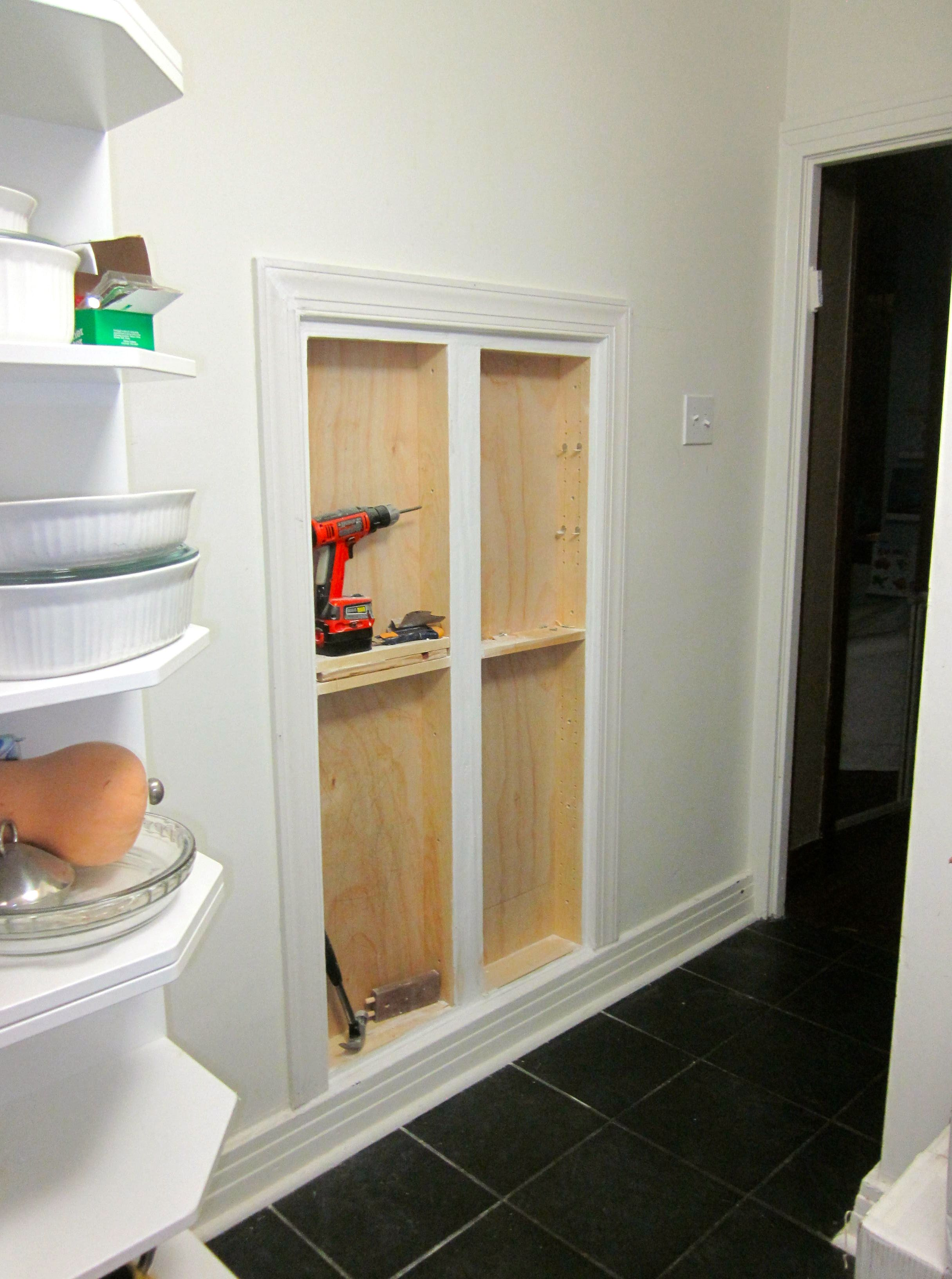I Know This Great Hole In The Wall Girl Bathrooms Wall Storage Shallow Pantry