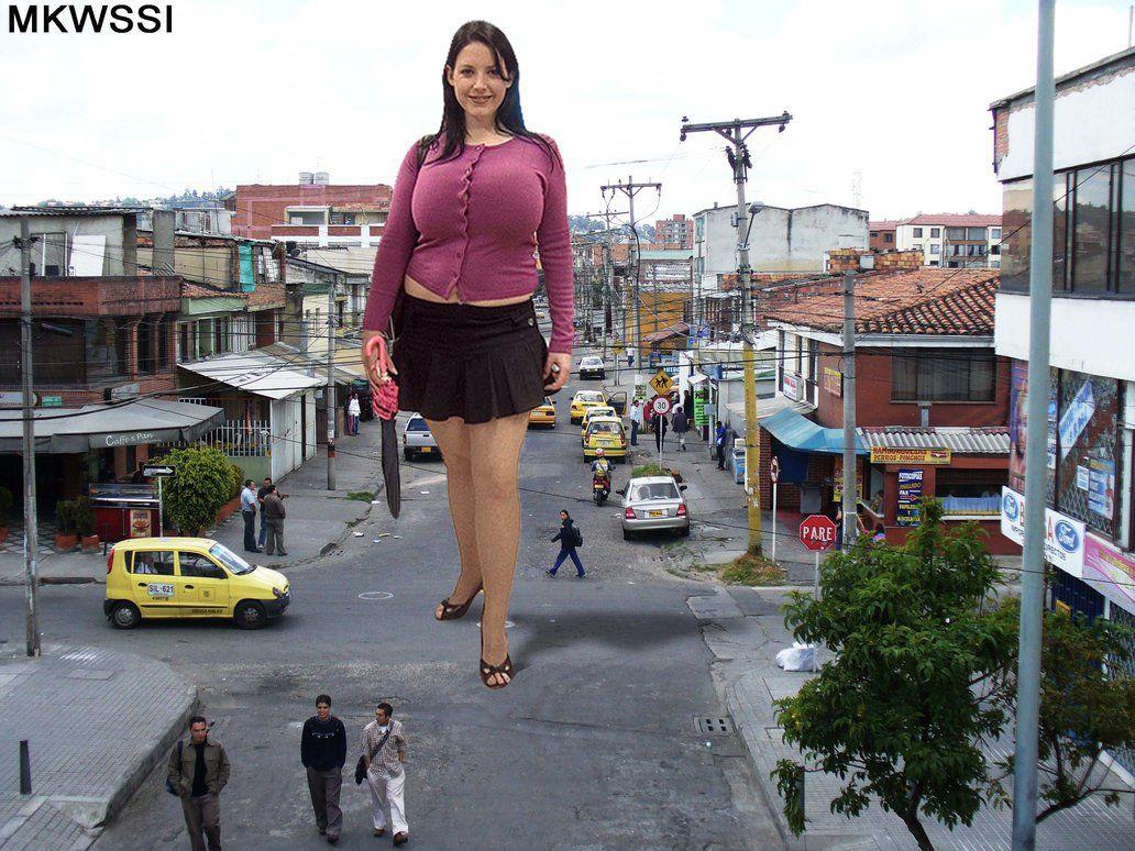 Big Boobs Giantess In Mini Skirt By Markawassi On -3574