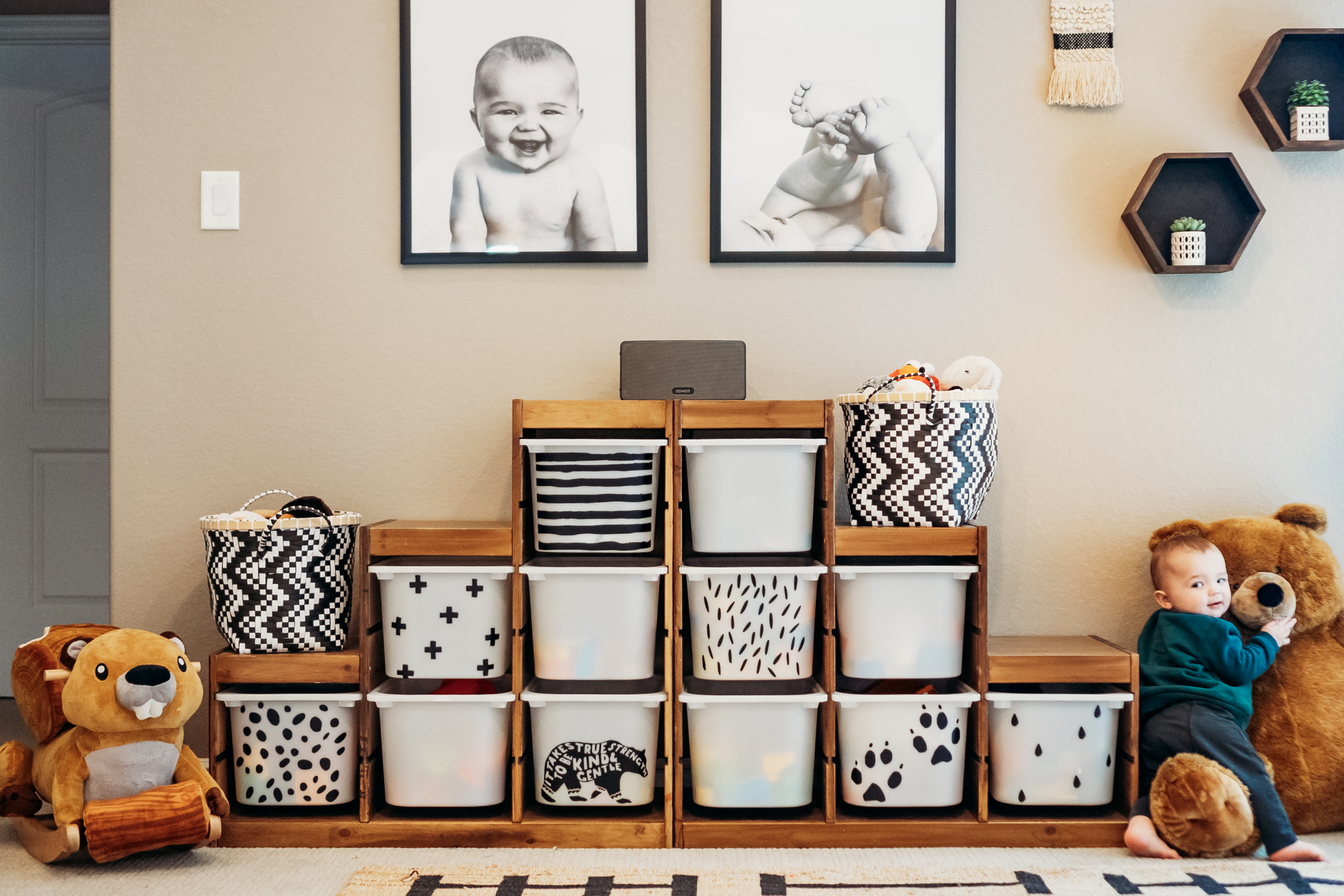 Ikea Trofast Storage Bin Makeover   Déco chambre petit garçon ...