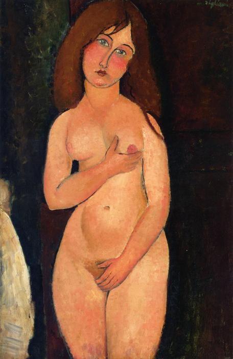 'Venus (auch als Standing Nude bekannt)', öl auf leinwand von Amedeo Modigliani (1884-1920, Italy)