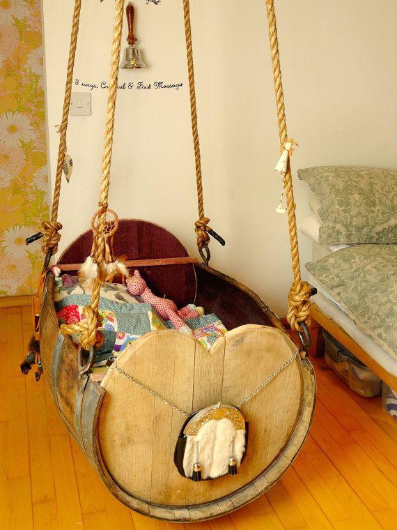 Selbstgemachte Baby Wiege aus Holz Wiege Pinterest