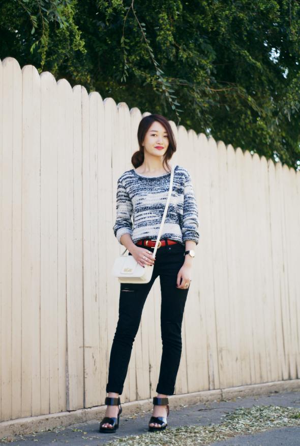 Rouge Fox / marled knit //  #Fashion, #FashionBlog, #FashionBlogger, #Ootd, #OutfitOfTheDay, #Style
