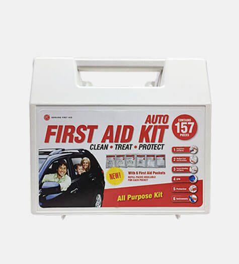 Genuine First Aid Auto kit 157 pcs Hard case