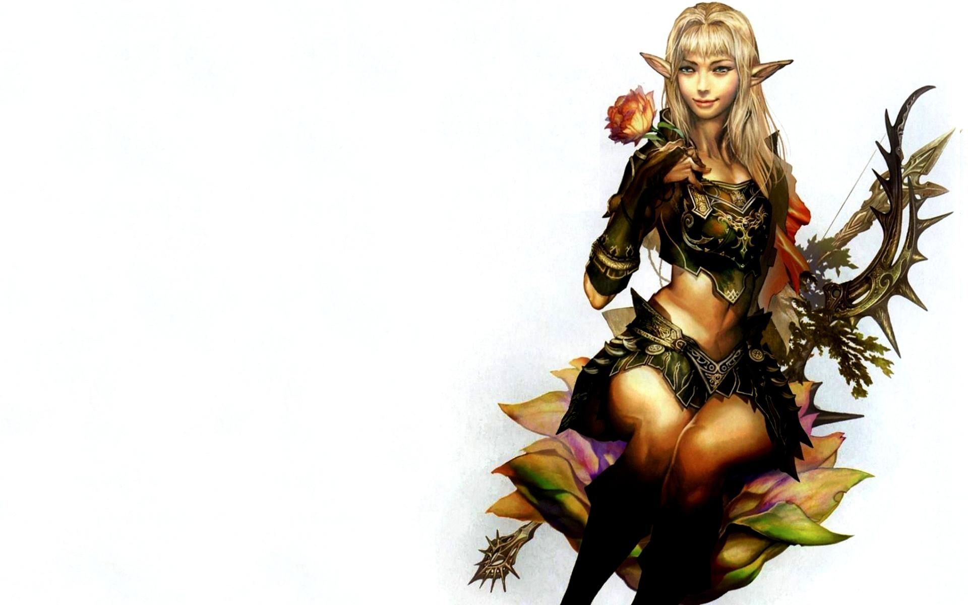 Archer Warrior Elves Fantasy Art Wallpapers Hd: HD Elf Archer Girl Wallpaper