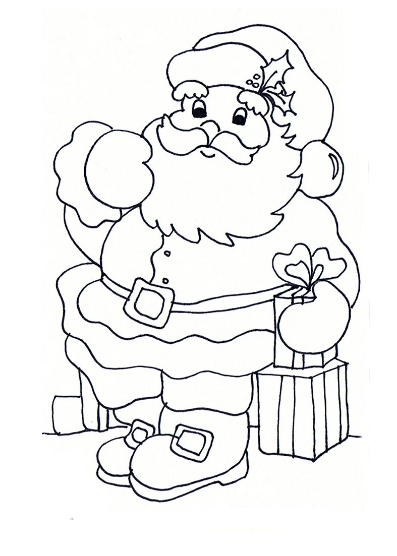 Como Pintar A Papa Noel Dibujo Navidad Para Colorear Papa Noel Para Pintar Páginas Para Colorear De Navidad