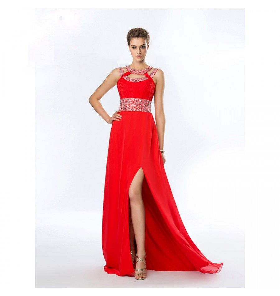 Brautjungfer Kleid 2017 Sexy Rot | Cocktailkleider 2018 | Pinterest