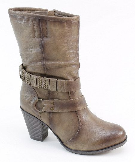 Taupe Wrap Strap Boot Zulily