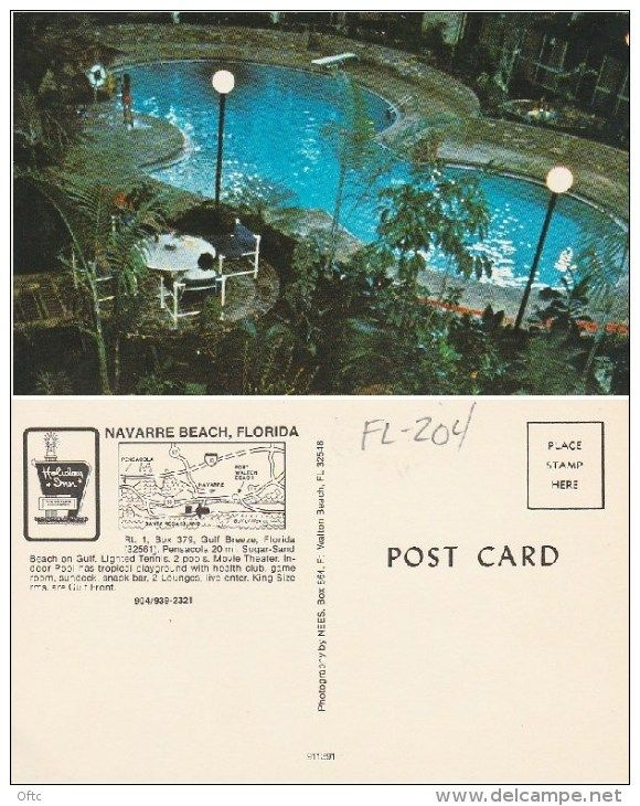 Fl 204 Holiday Inn Navarre Beach Postcard Delcampe