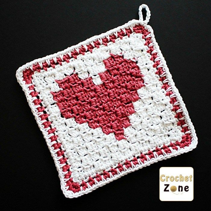 C2C Heart Washcloth With Valentine\'s Day coming up I wanted to make ...