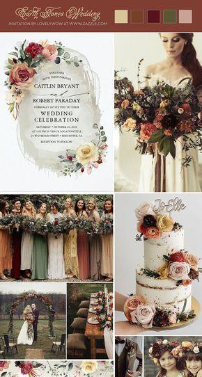 Rustic Bloom Floral Fall Wedding Invitation | Zazzle.com