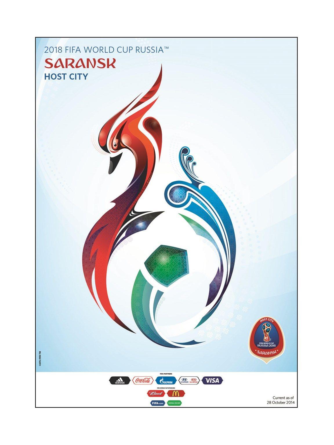 Saransk Kubok Mira Sportivnye Logotipy Plakat