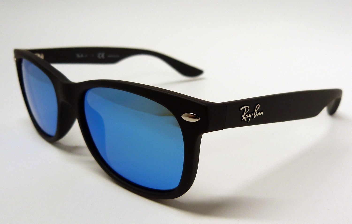 dadaaf0628 Ray Ban RJ9052S 100S 55 NEW WAYFARER JUNIOR Black Blue Mirror Sunglasses  Y3 15
