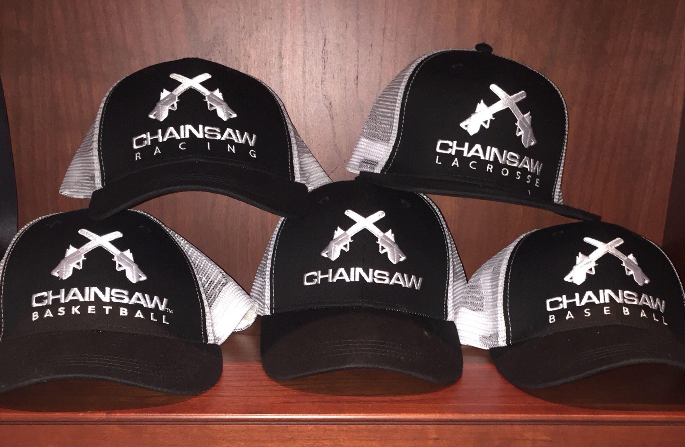 Keep cool all summer long! Chainsaw Signature snap back sport caps. Available at www.chainsawbrands.com