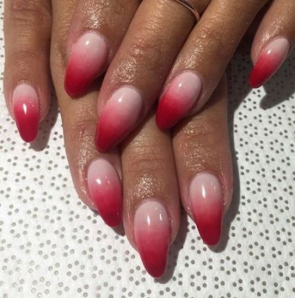 birthday nails 21st almond 39 ideas  pink ombre nails