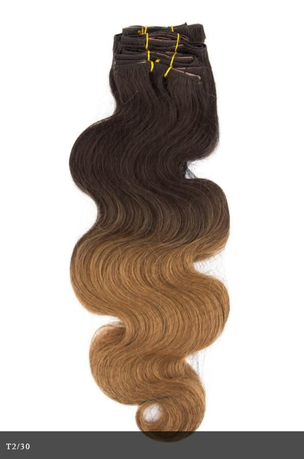 Clip 7 Piece Body Wave Wavy Clip In Essential 100 Remy Human